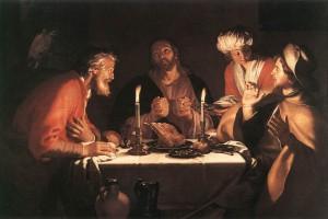"""Lukisan berjudul """"The Emmaus Disciples"""" karya Abraham Bloemaert"""