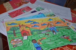 Gambar hasil karya anak-anak SD se- Sumba, NTT/ Foto : Abdi Susanto - SESAWI.Net