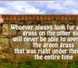 Greener Grass Quotes KWI