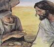 Yesus dicobai iblis: Ilustrasi dari lucabeato.altervista.org