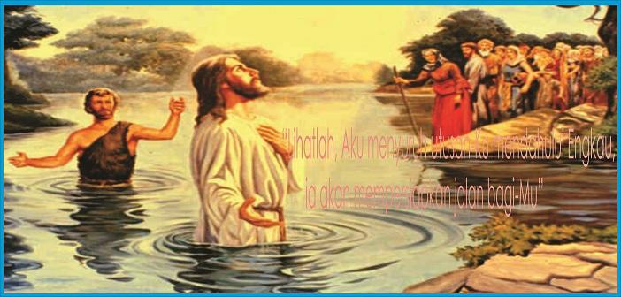 Yohanes Pembaptis dan Yesus, ilustrasi dari katolik.co