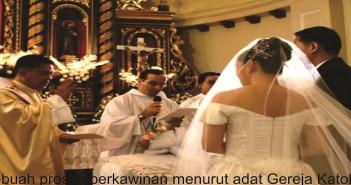 Prosesi Perkawinan menurut adat gereja Katolik, ilustrasi dari katolisitas.org