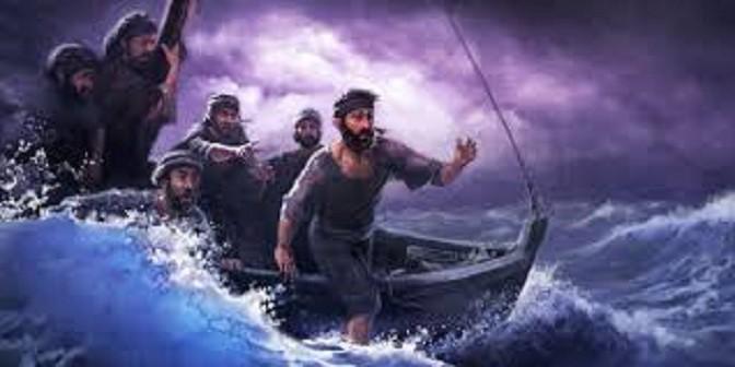 Para murid takut ketika badai menghantam perahu mereka, www.jw.org