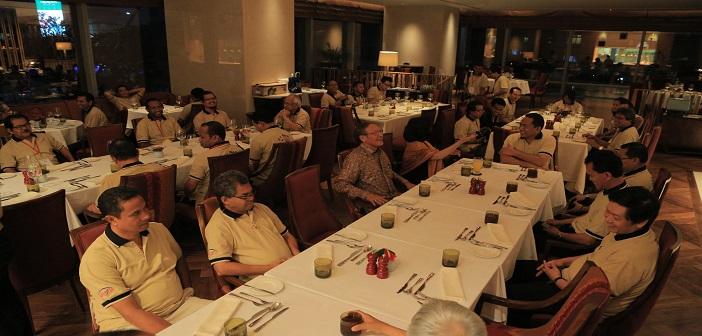 Jamuan Makan Malam di Arts Cafe, Raffles Hotel, Ciputra world 1oleh ibu Lucia Liando sekeluarga