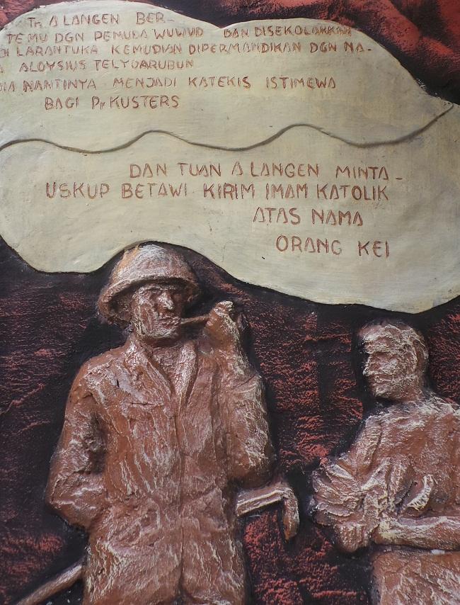 Adolf Langen, pengusaha kayu asal Jerman dan berkeyakinan Protestan menjadi penggerak bagi datangnya misi Katolik di Tanah Evav