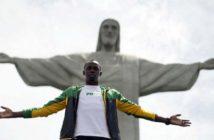Atlet olimpiade 2016, Usain Bolt ketika berpose di depan Patung Kristus Penebus di gunung Corcovado,Brasil/Foto: The Catholic Thing