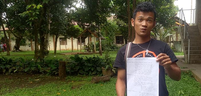 Mahasiswa STP St. Bonaventura Libatkan Diri Bantu Korban Sinabung