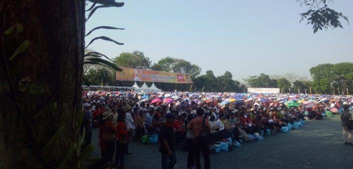 "LIVE: Suasana Tahbisan ""Moko"" di Komplek Akpol Semarang"