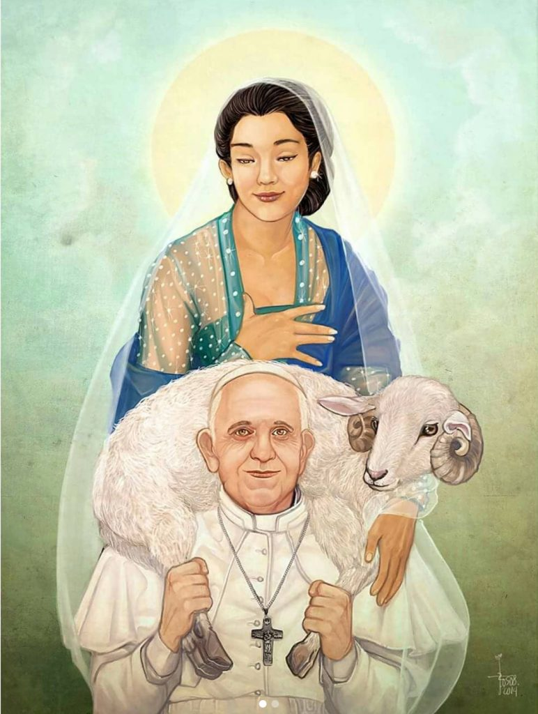 """""""Ndherek Dewi Mariyah"""" yang dipersembahkan Jonathan untuk Paus Fransiskus pada AYD 2014"""