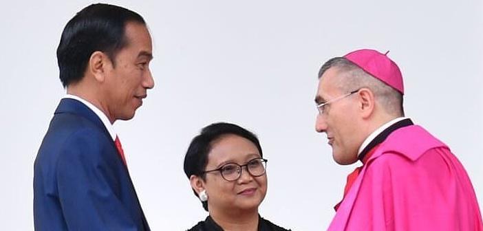 Jokowi Terima Kredensial Duta Vatikan Mgr. Piero Pioppo