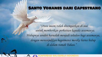 Santo Yohanes dari Capestrano 23 Oktober, katekese, Komsos KWI, Konferensi Waligereja Indonesia, KWI, Para Kudus di Surga, Santo Hilarion, santo santa, teladan kita