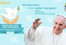 01 Januari, katekese, katolik, Komsos KWI, Konferensi Waligereja Indonesia, KWI, Para Kudus di Surga, putera allah, Paus Fransiskus, Hari Perdamaian Sedunia ke 53, santo santa, Sukacita, teladan kita