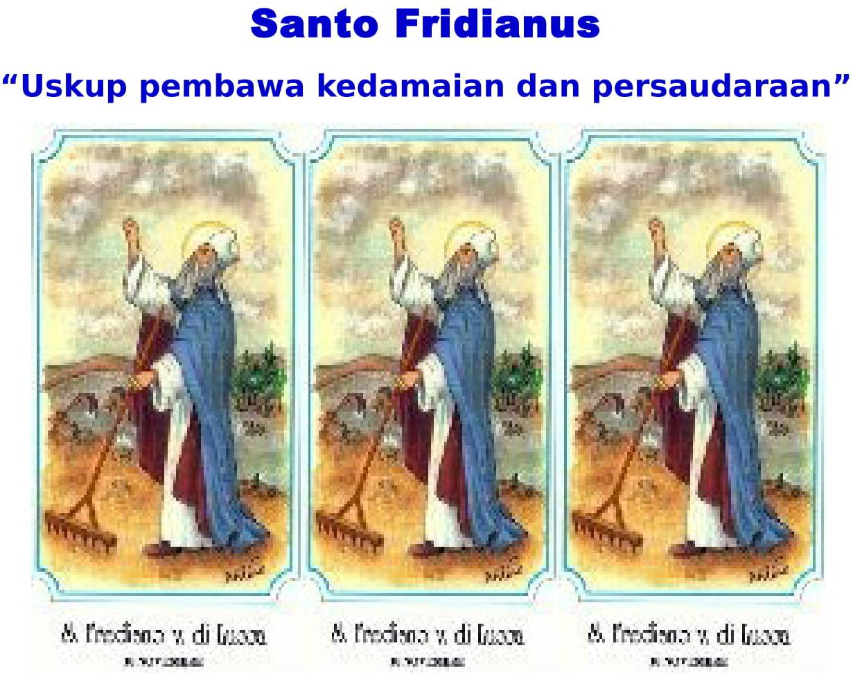 Santo Fridianus