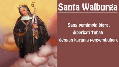 25 Februari, Santo Montanus, Santo Lucius, dkk, Santa Walburga, katekese, katolik, Komsos KWI, Konferensi Waligereja Indonesia, KWI, Para Kudus di Surga, putera allah, santo santa, Sukacita, teladan kita