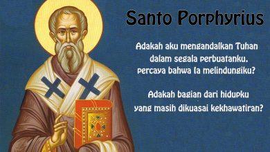 26 Februari, Santo Porphyrius, Santa Walburga, katekese, katolik, Komsos KWI, Konferensi Waligereja Indonesia, KWI, Para Kudus di Surga, putera allah, santo santa, Sukacita, teladan kita