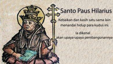 28 Februari, Santo Paus Hilarius, Santo Gabriel dari Bunda Dukacita, katekese, katolik, Komsos KWI, Konferensi Waligereja Indonesia, KWI, Para Kudus di Surga, putera allah, santo santa, Sukacita, teladan kita