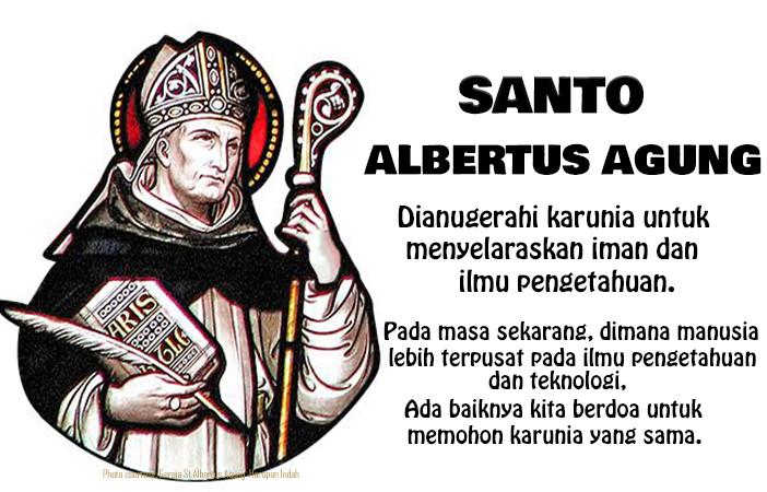 15 November, katekese, Komsos KWI, Konferensi Waligereja Indonesia, KWI, Para Kudus di Surga, Santo Albertus Agung, santo santa, teladan kita