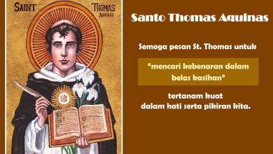 28 Januari, Santo Thomas Aquinas, Santa Angela Merici, katekese, katolik, Komsos KWI, Konferensi Waligereja Indonesia, KWI, Para Kudus di Surga, putera allah, santo santa, Sukacita, teladan kita