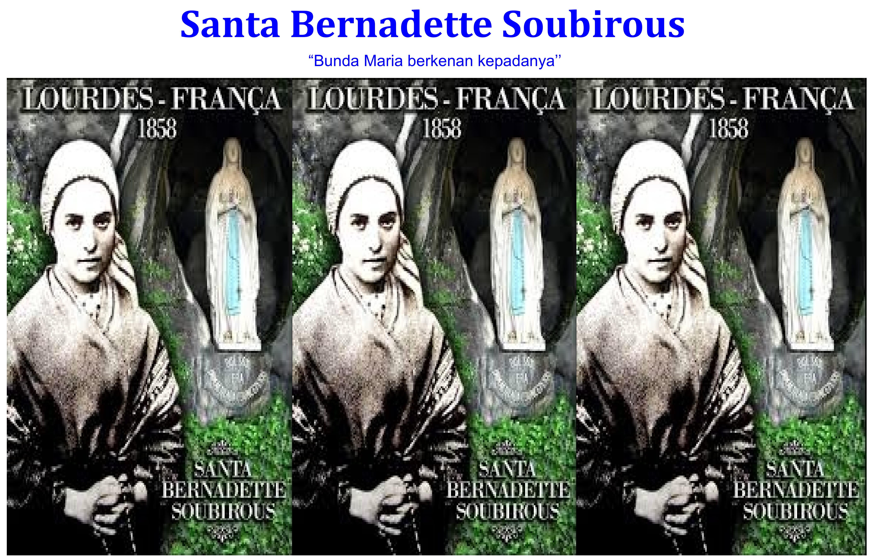 Santa Bernadette Soubirous