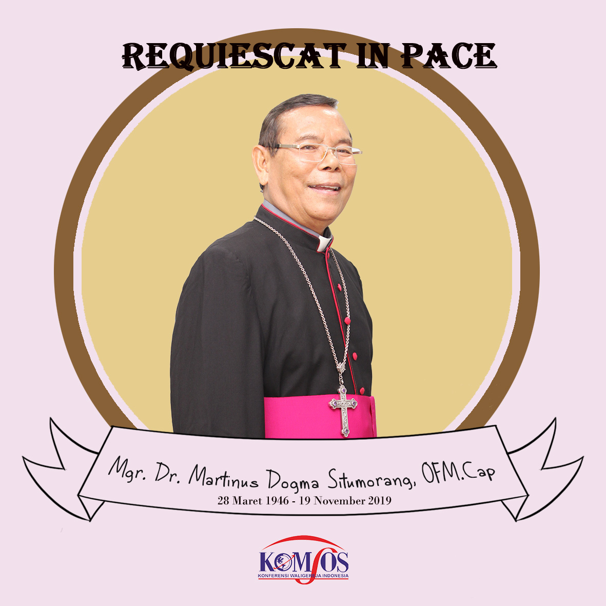 #KomsosKWI, Konferensi Waligereja Indonesia, Mgr Situmorang, Mgr. Martinus Dogma Situmorang OFMCap, Uskup Keuskupan Padang