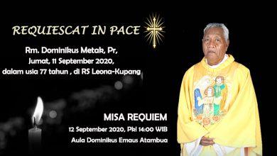 RIP, Rest in Peace, Selamat Jalan Romo Dominikis Metak Pr, dalam damai Tuhan , Keuskupan Purwokerto, Keuskupan Atambua, katekese, Requiescat in Pace, Komsos KWI, KWI, Konferensi Waligereja Indonesia