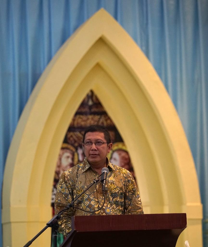 Menteri Agama RI, Lukman Hakim Saifuddin hadir mewakili pemerintah dalam pembukaan SAGKI, 2 November 2015