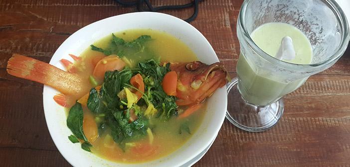 Ikan Kuah Asam dan Jus Alpukat
