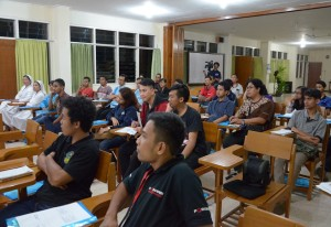 Peserta workshop audio & visual Keuskupan Malang