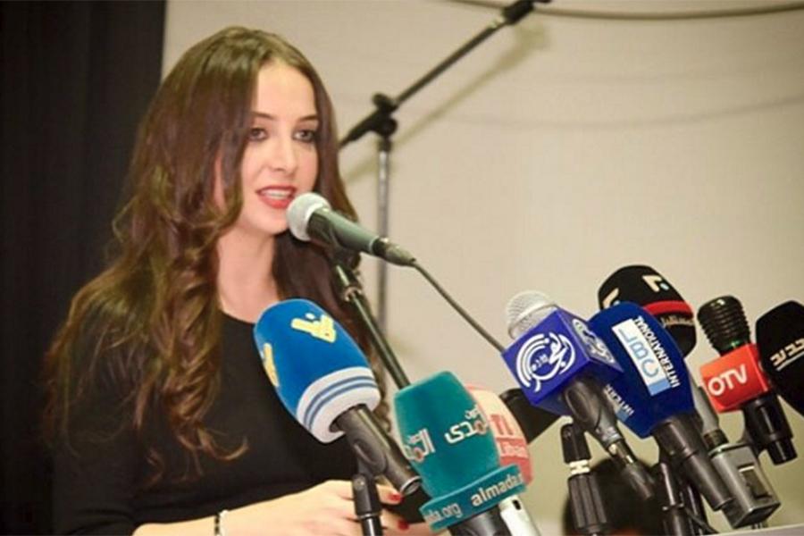 Mahassen Haddara dalam sebuah acara konferensi pers/Foto: Aleteia.org