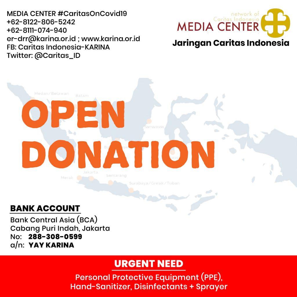 Open Donation, Ayo berdonasi, COVID19, Katekese, Komsos KWI, Konferensi Waligereja Indonesia, dirumahaja, Virus Corona