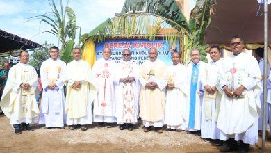 Bangunan Gereja Baru, Bevak Doa, keuskupan agung merauke, Komsos KWI, Konferensi Waligereja Indonesia, papua, Pastor Hendrikus Kariwop MSC