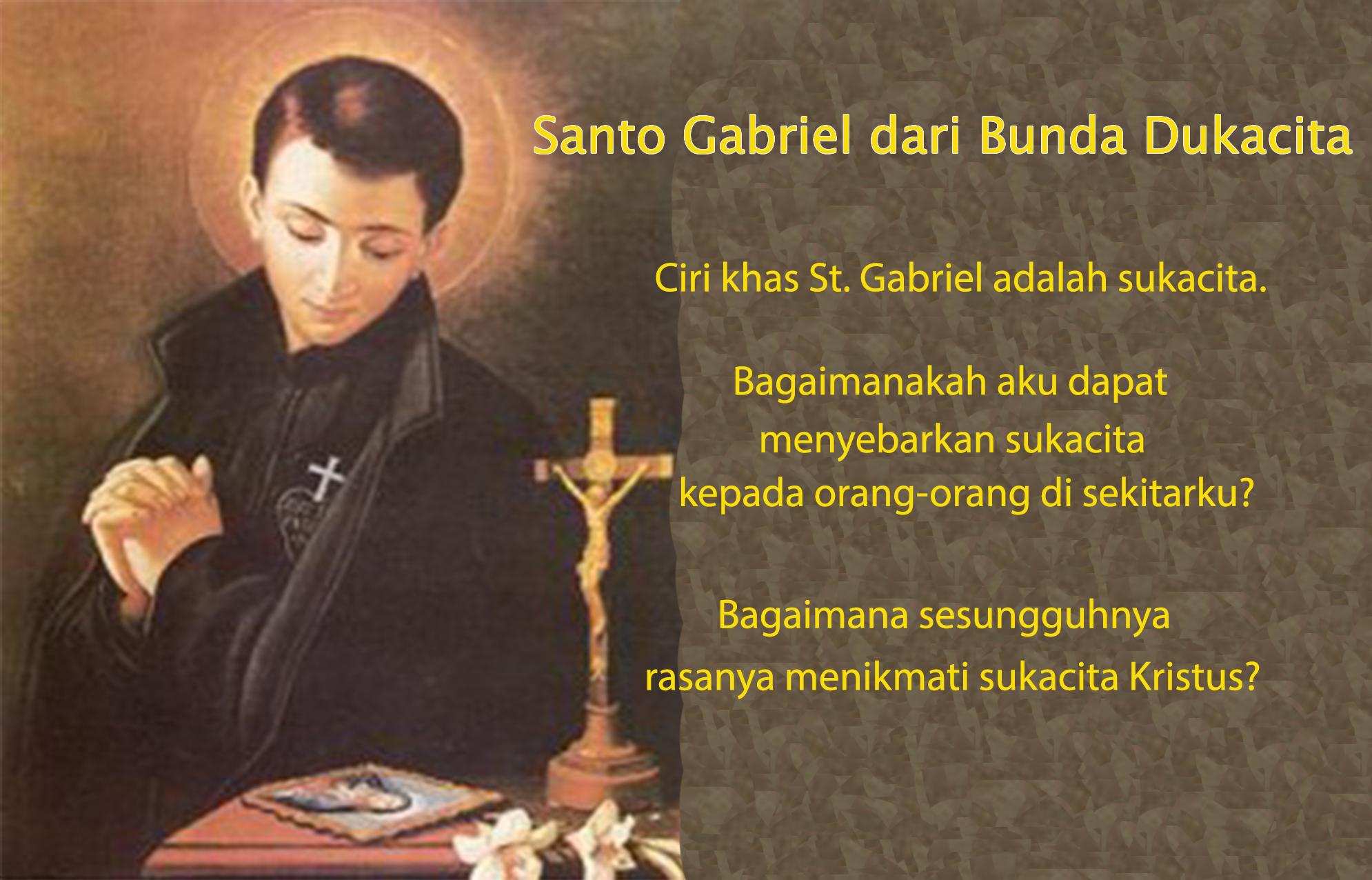 27 Februari, Santo Porphyrius, Santo Gabriel dari Bunda Dukacita, katekese, katolik, Komsos KWI, Konferensi Waligereja Indonesia, KWI, Para Kudus di Surga, putera allah, santo santa, Sukacita, teladan kita