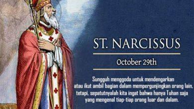 29 Oktober, katekese, Komsos KWI, Konferensi Waligereja Indonesia, KWI, Para Kudus di Surga, Santo Narcissus, santo santa, teladan kita