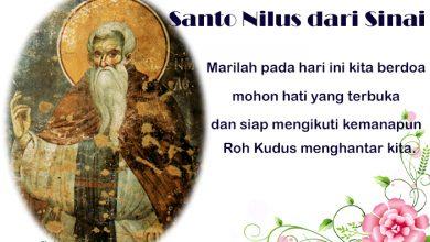 12 November, katekese, Komsos KWI, Konferensi Waligereja Indonesia, KWI, Para Kudus di Surga, Santo Hilarion, santo santa, teladan kita