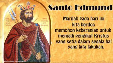20 November, katekese, Komsos KWI, Konferensi Waligereja Indonesia, KWI, Para Kudus di Surga, Santa Edmund, santo santa, teladan kita, santo santa hari ini