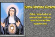 18 Januari, Santo Antonius dari Mesir, Beata Christina Ciccarelli, katekese, katolik, Komsos KWI, Konferensi Waligereja Indonesia, KWI, Para Kudus di Surga, putera allah, santo santa, Sukacita, teladan kita