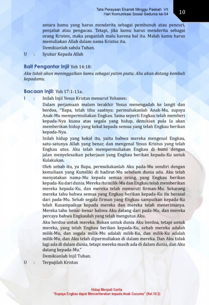 Mei, Injil Hari ini, Bacaan, Bacaan Kitab Suci, bait allah, Firman Tuhan, iman, Injil Katolik, Bacaan Injil Hari ini, Kitab Suci, Komsos KWI, Konferensi Waligereja Indonesia, KWI, penyejuk iman, Perjanjian Lama, Pewartaan, Sabda Tuhan, Ulasan eksegetis, Ulasan Kitab Suci Harian, Yesus Juruselamat, Pekan Suci, Minggu Paskah, Hari Minggu Paskah IV, Doa Rosario Laudato Si, Rosario, Mei Bulan Rosario, pesan paus, hari komunikasi sedunia, pekan komunikasi nasional, paus fransiskus, bapa suci