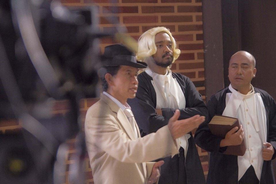 """Foto: syuting salah satu adegan dalam film """"Matias Wolff SJ: Serigala Pembela Iman"""", produksi Kongregasi SJMJ dan SAV Puskat, 2015 ***"""